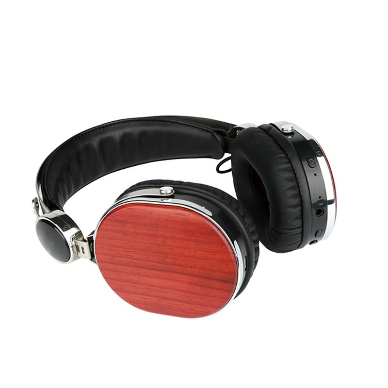 Wireless wooden headphone bluetooth earphone