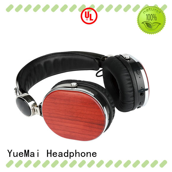 ymb cherry wood headphones with microphone YueMai Acoustic Technology