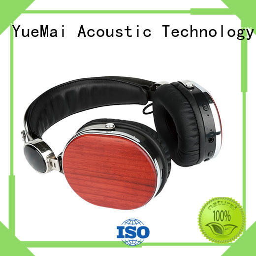 logo wireless OEM wooden headphones YueMai Acoustic Technology