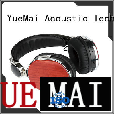 print logo universal wireless wooden headphones YueMai Acoustic Technology