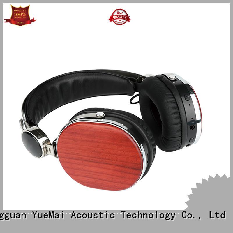 Wireless wooden headphone bluetooth earphone
