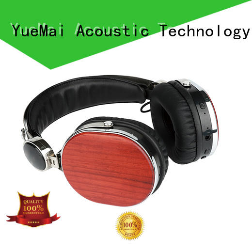 professional wooden bluetooth headphones ymb for mobilephone YueMai Acoustic Technology