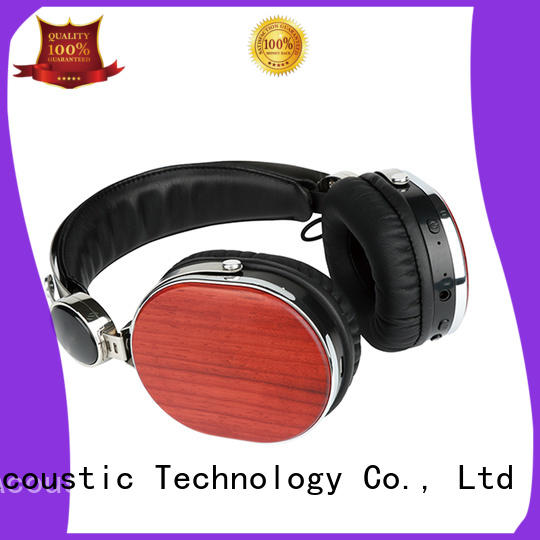 headset wooden headphones stereo inear YueMai Acoustic Technology company