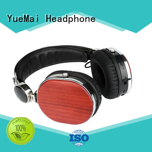 YueMai Acoustic Technology Brand form wooden headset earphone supplier
