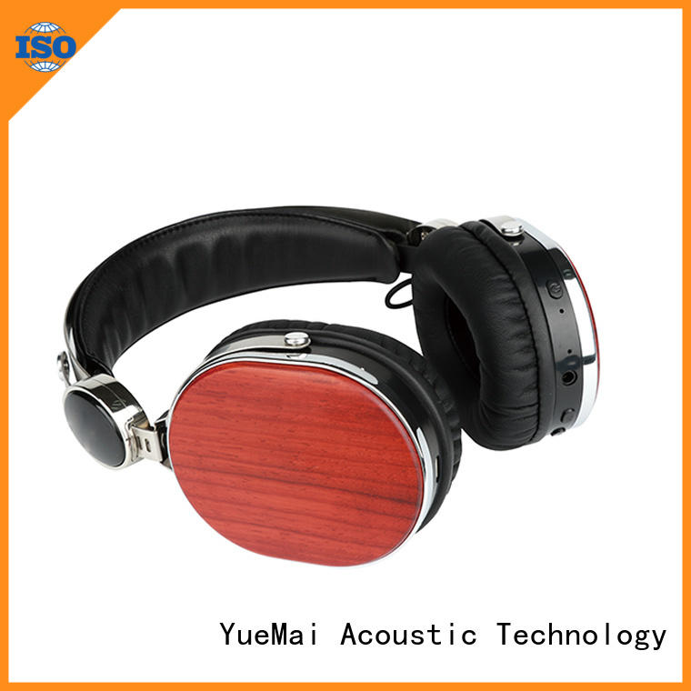 YueMai Acoustic Technology wooden wireless headphones without logo for mobilephone
