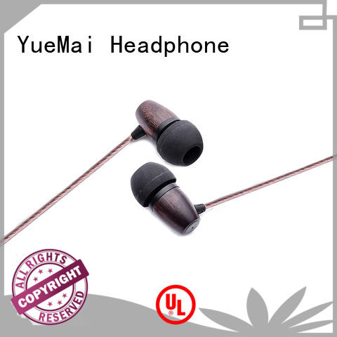 YueMai Acoustic Technology black best wooden earphones for mobile and computer