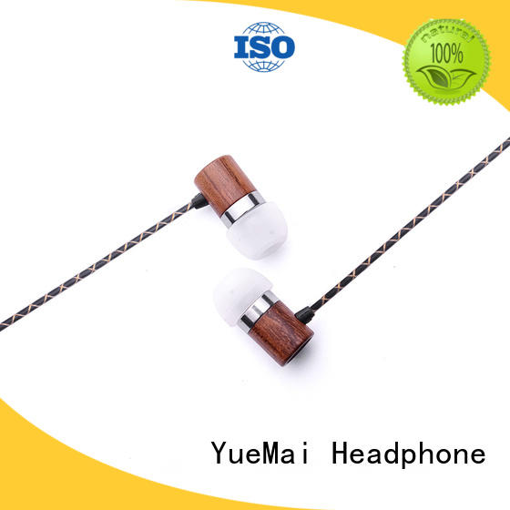 natural wooden earphone for sale YueMai Acoustic Technology