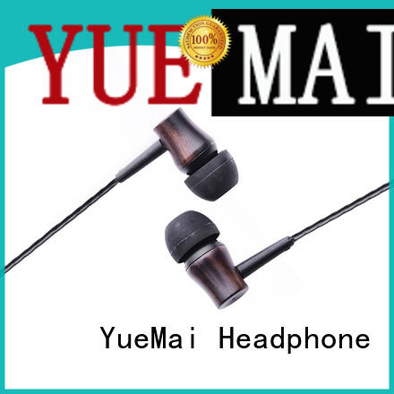 YueMai Acoustic Technology wooden earphones with mic for sale