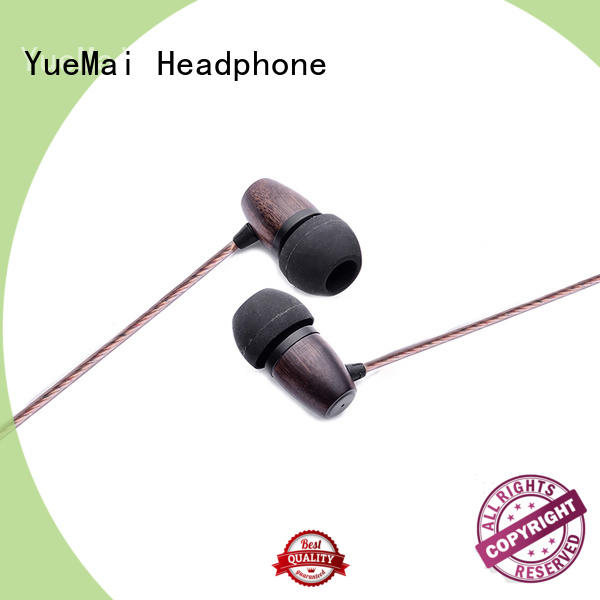 natural wooden earphone ymweb for sale YueMai Acoustic Technology