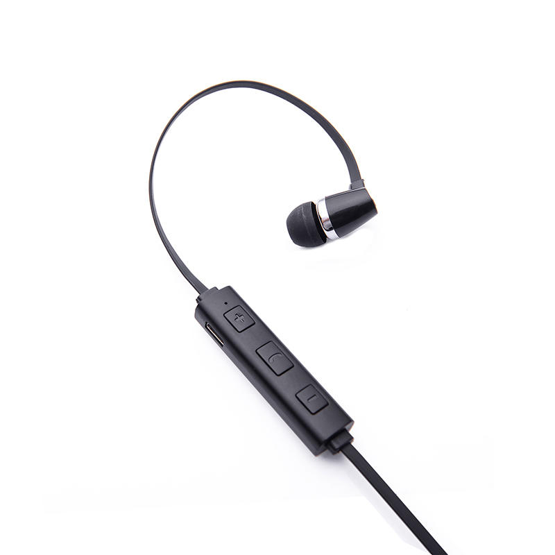 Wireless Bluetooth earphone black plastic 4.1V stereo earbuds