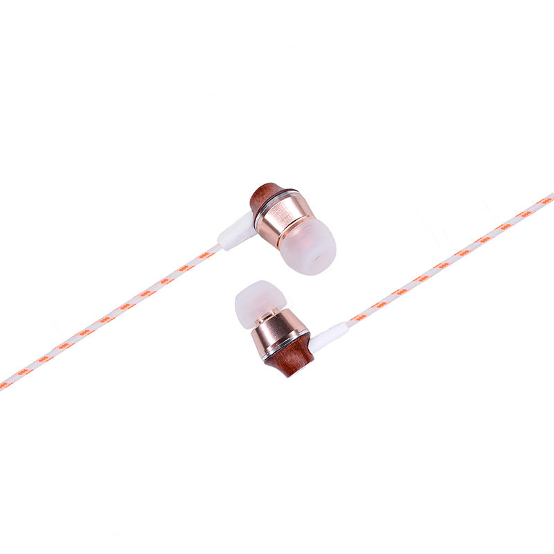 Wholesale OEM design hands free wooden earphone