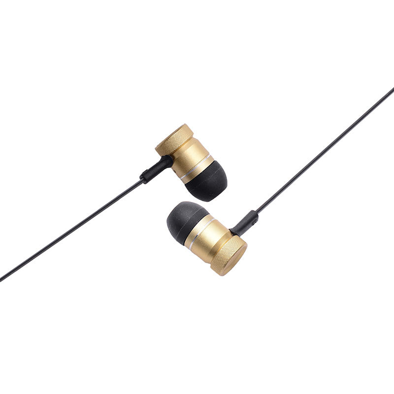 Metal earphone wireless bluetooth headphone