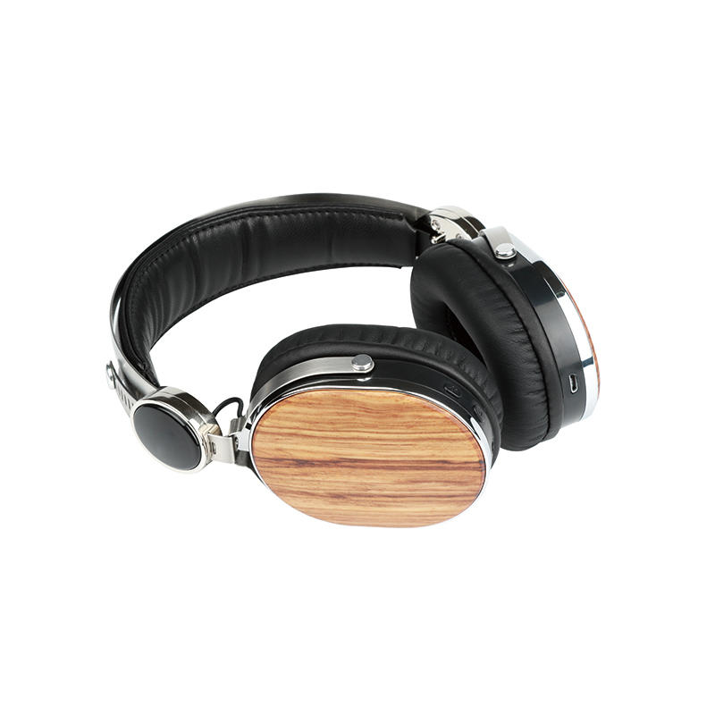 Wireless Bluetooth headset wooden headphone ( walnut wood )