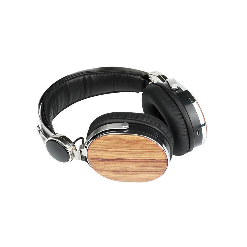 Wireless Bluetooth headset wooden headphone ( walnut wood )