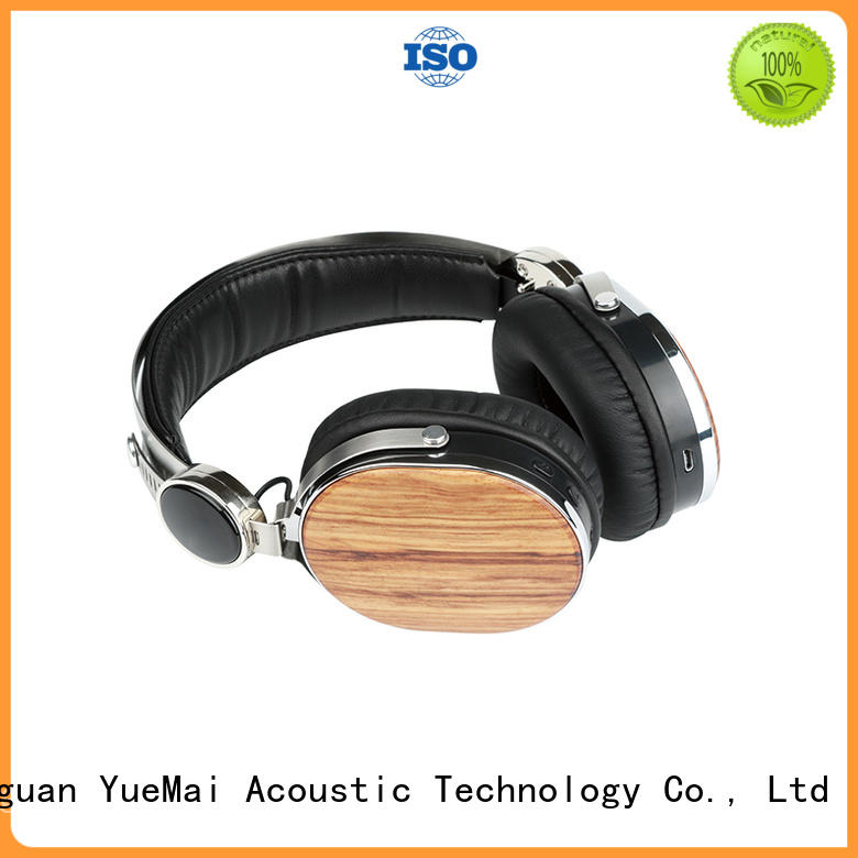 YueMai Acoustic Technology Brand earbuds computer logo wooden headphones manufacture