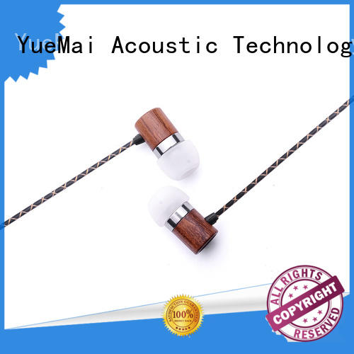 Wholesale earbuds wooden earbuds YueMai Acoustic Technology Brand
