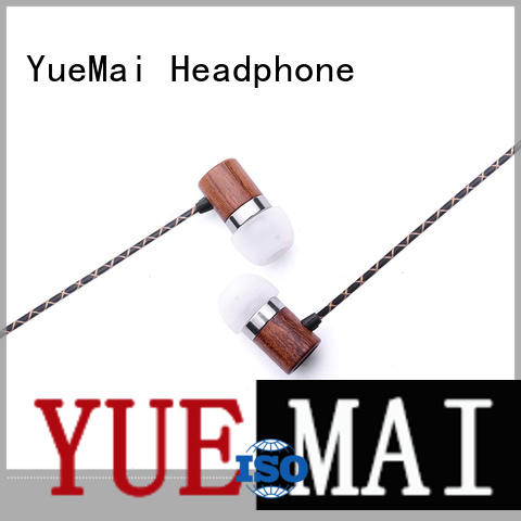 ymwwn natural wooden earphone professional for sale YueMai Acoustic Technology