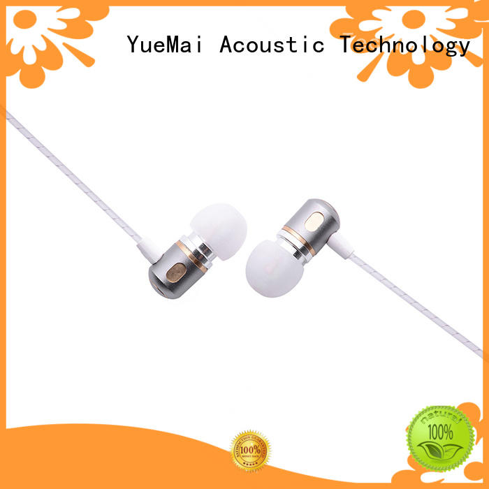 hands free earbuds with metal cord with microphone for mobile