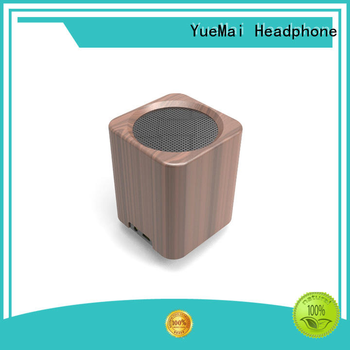 portable natural wood speakers with lithium battery for ipad YueMai Acoustic Technology