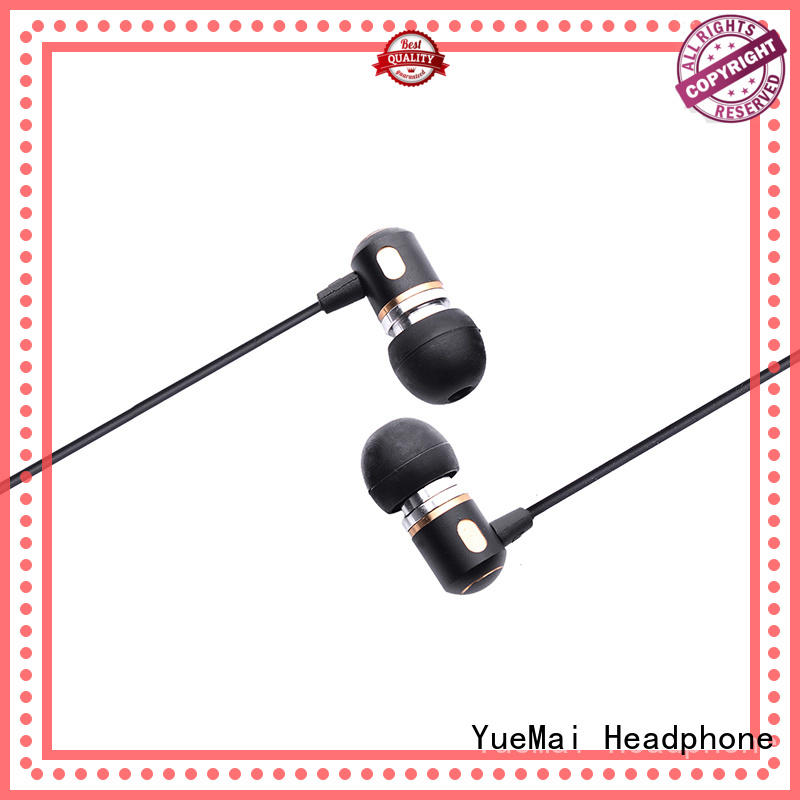 YueMai Acoustic Technology good selling earbuds with metal cord with microphone for sale