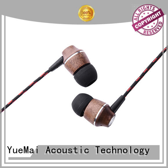 YueMai Acoustic Technology ymwwn wooden earphone manufacturer for mobile and computer