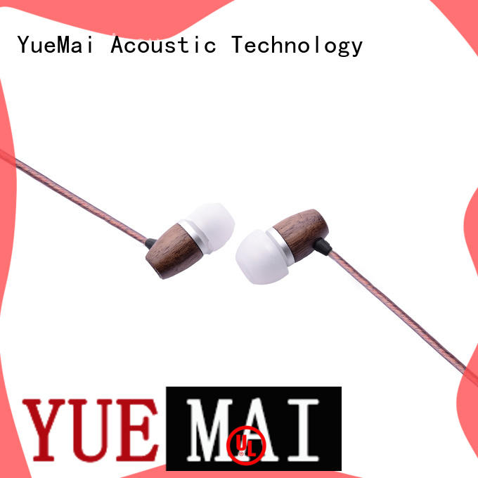 ymwwn natural wood earbuds ymweb for mobile and computer YueMai Acoustic Technology