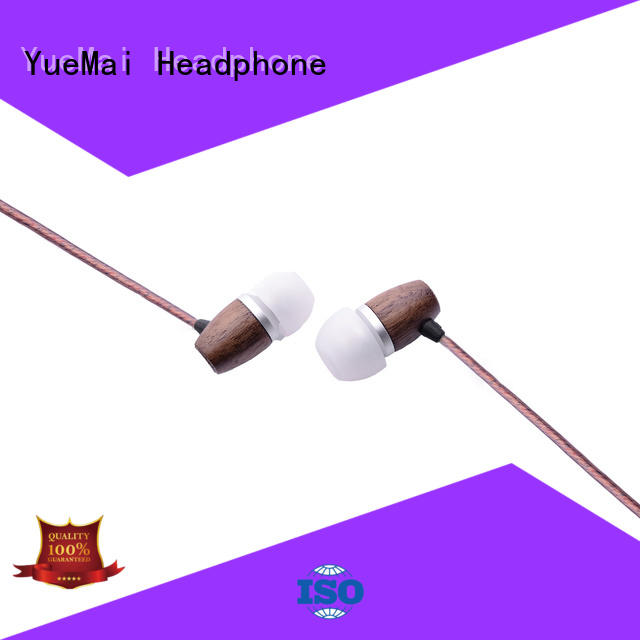 YueMai Acoustic Technology plastic wood finish headphones for mobile and computer
