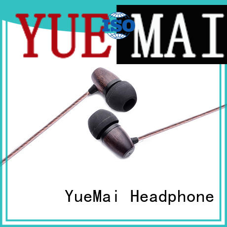 black natural wooden earphone supplier for sale YueMai Acoustic Technology
