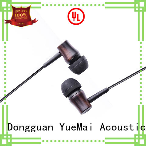 free design YueMai Acoustic Technology Brand wooden headphone factory