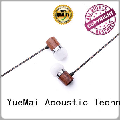 YueMai Acoustic Technology Brand free wireless mobile stereo wooden earbuds