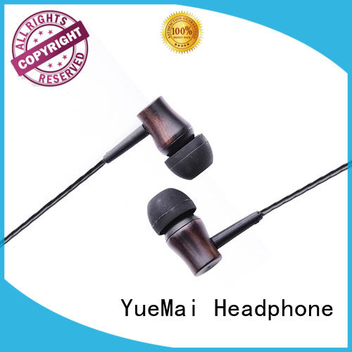 wooden earphones for mobile and computer YueMai Acoustic Technology