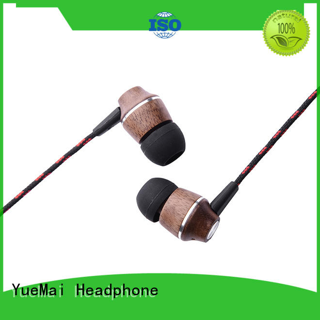 YueMai Acoustic Technology Brand computer free wooden headphone oem supplier