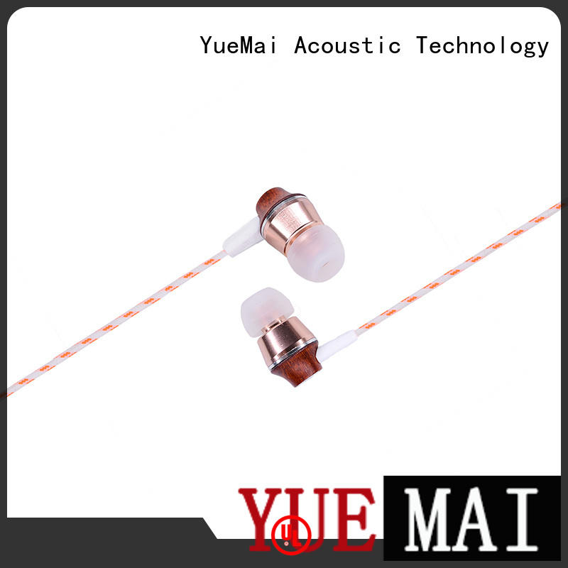 wireless mic earbuds YueMai Acoustic Technology Brand wooden headphone factory