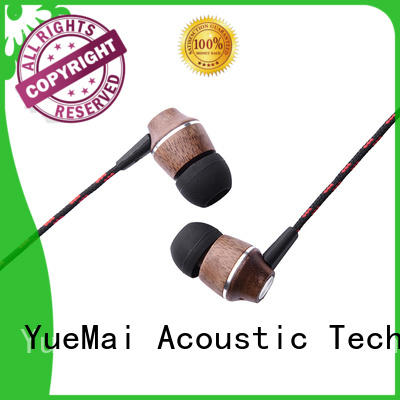 wooden in ear headphones for sale YueMai Acoustic Technology