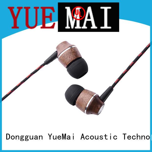 YueMai Acoustic Technology wooden earphones manufacturer for sale