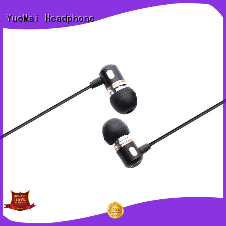 dual driver best earphones for metal without logo for ipad YueMai Acoustic Technology