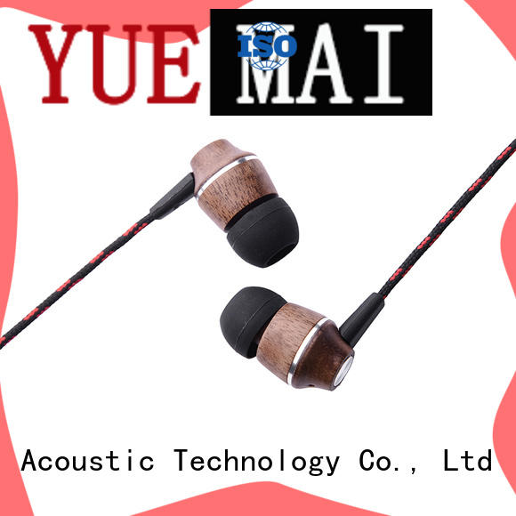 YueMai Acoustic Technology universal natural wooden earphone ymweb for sale