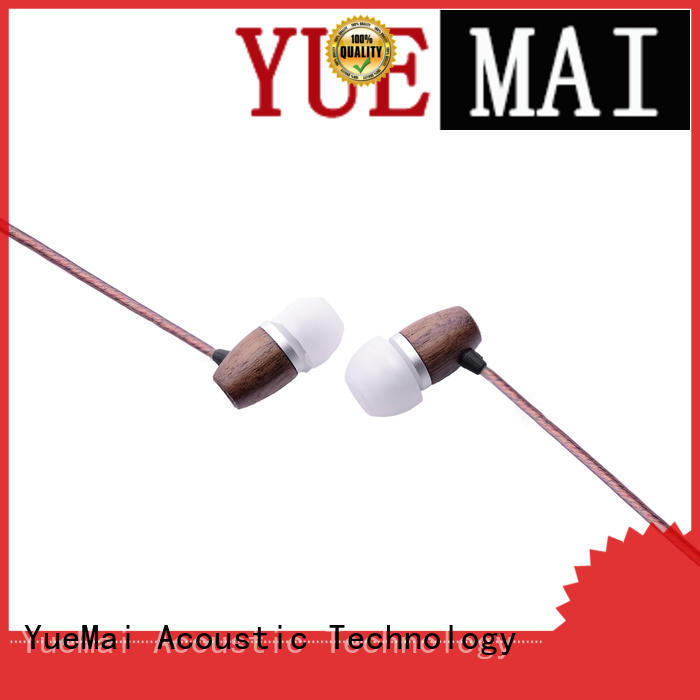 wooden earbuds with mic for sale