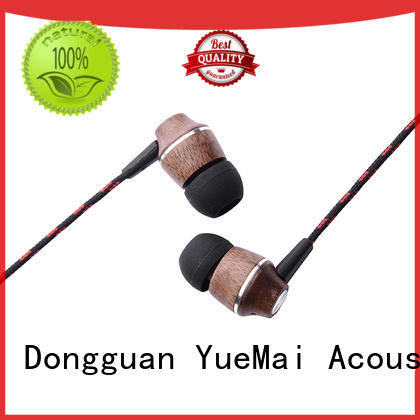 patent wooden earbuds plastic YueMai Acoustic Technology company