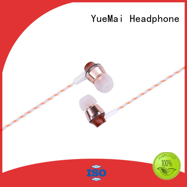 YueMai Acoustic Technology wooden earbuds with mic for sale