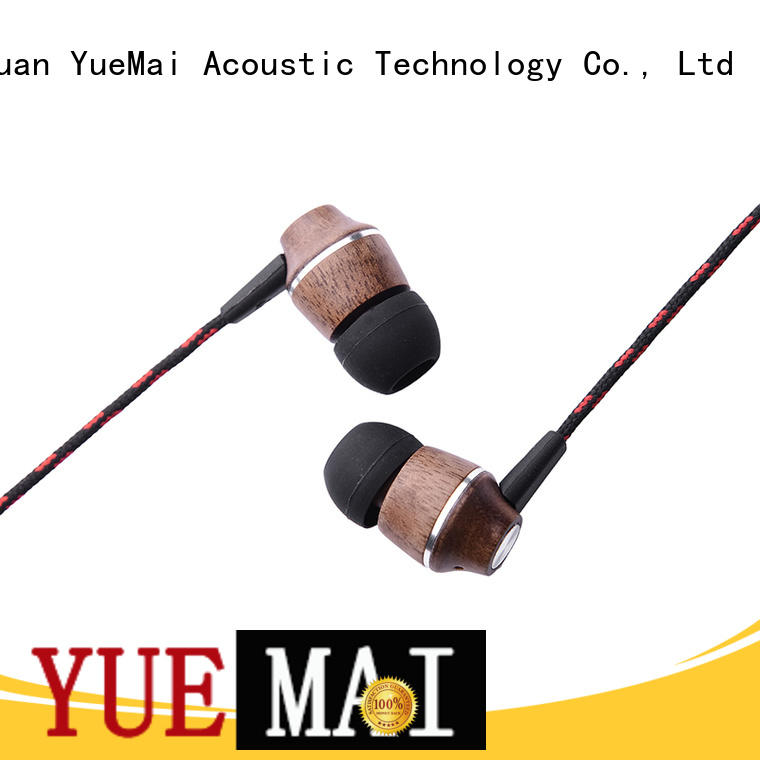 wooden earphones for sale YueMai Acoustic Technology