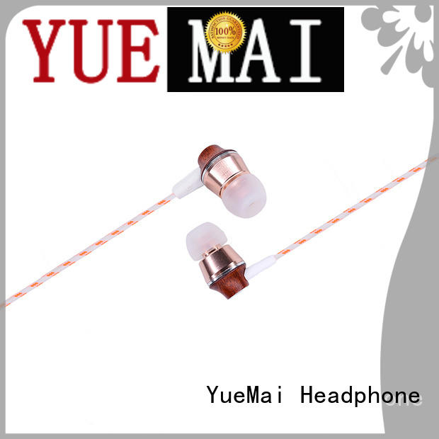 YueMai Acoustic Technology logo print best wooden earphones ymwwn for mobile and computer