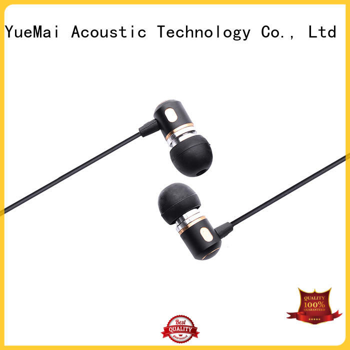 YueMai Acoustic Technology Brand earphone metal headphone Stereo factory