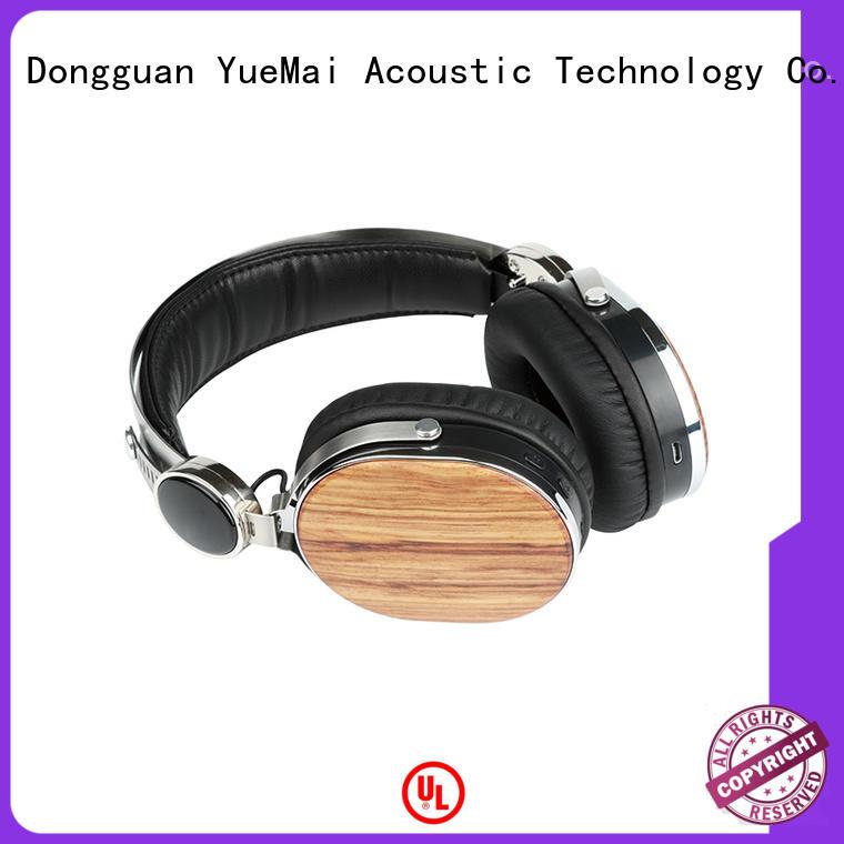 oem audio technica wood headphones with logo