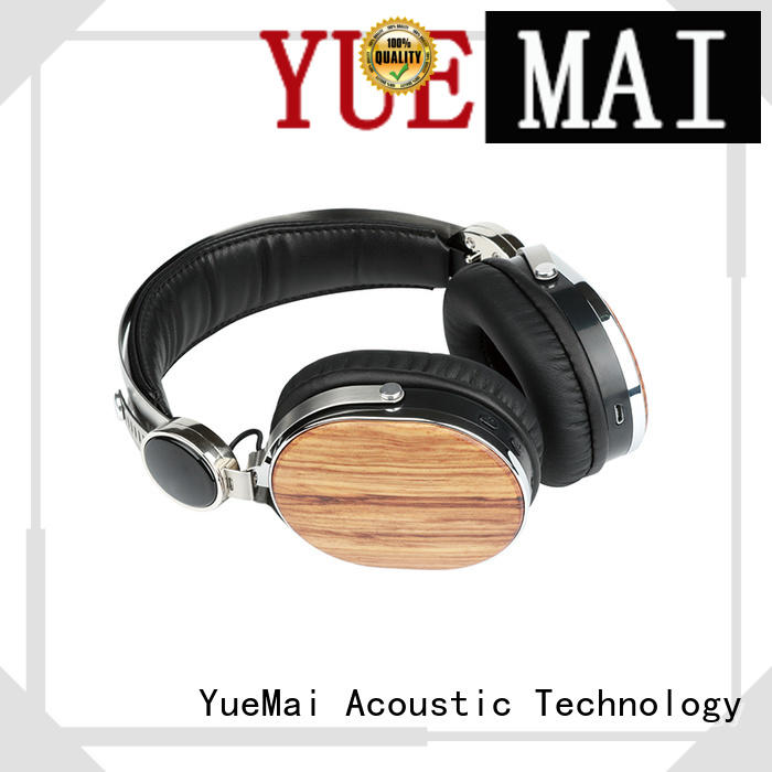 Quality YueMai Acoustic Technology Brand wooden headset print