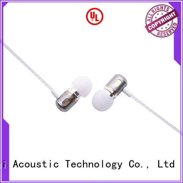 Hot metallic metal in ear headphones free YueMai Acoustic Technology Brand
