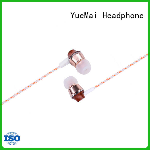 YueMai Acoustic Technology wood finish headphones manufacturer for mobile and computer
