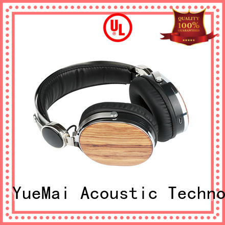YueMai Acoustic Technology Brand universal logo mobile custom wooden headset