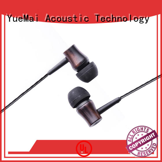 YueMai Acoustic Technology plastic wood finish headphones supplier for mobile and computer