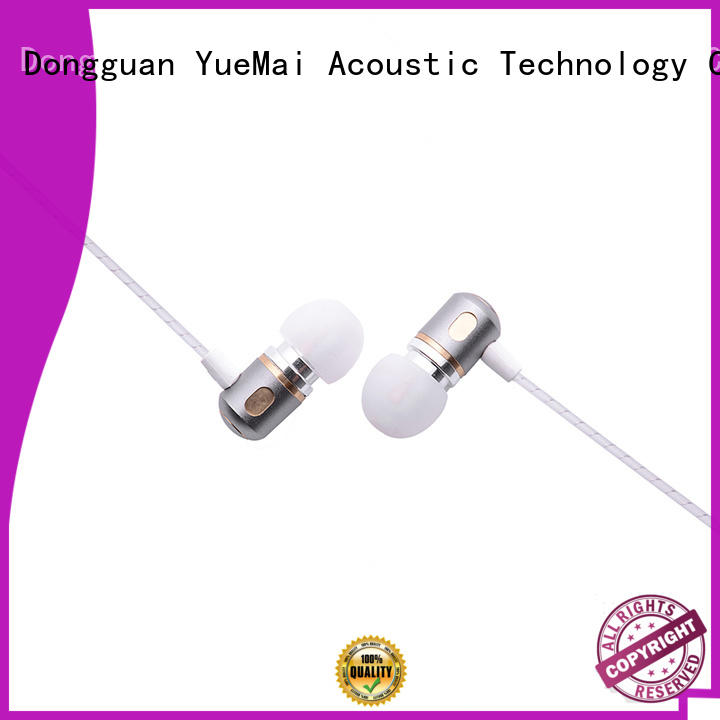 YueMai Acoustic Technology dual driver metal earbuds manufacturer for kids and adults